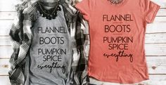Fall Graphic Tees | Pumpkin Spice - Was $28.00 - Ships for $17.98!