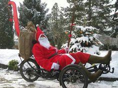Santa rides recumbent... who knew