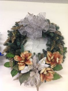 Christmas wreath by TammysFlowersandmore on Etsy, $50.00