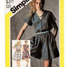 Simplicity 5583, A Front Button, Cap Sleeve, Culotte Dress, Romper, and Flared Skirt Dress Pattern by So Sew Some!