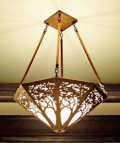Copper tree light fixture--James Mattson (mine!)