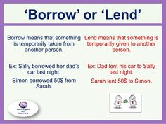 'Borrow' or 'Lend' #LearnEnglish @AntriParto
