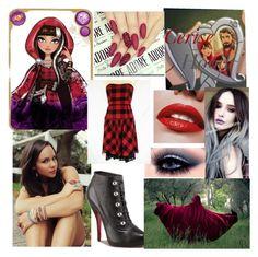 """Cerise hood look"" by tiffaniewhite101 ❤ liked on Polyvore"