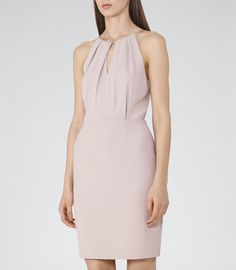 Womens Ice Rose Chain Neck Detail Dress - Reiss Odessa