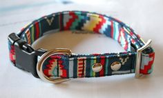 Canvas American Indian design Dog Collar by Miasclosetshop on Etsy