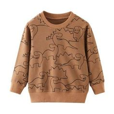 SAILEROAD Cartoon Dinosaur Boys Sweatshirts for Little Kids Hoodies Clothes Autumn Children Long Sleeve Shirts Cotton Boys Hoodies, Boys Shirts, Toddler Outfits, Boy Outfits, Dinosaur Sweater, Baby Boy Sweater, Boys Sweaters, Printed Sweatshirts, Shirt Outfit