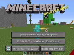 35 Minecraft Birthday Invitation Template - Simple Template Design