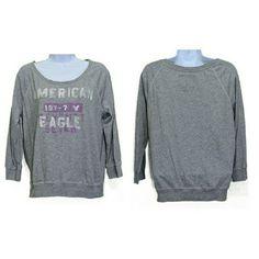 American Eagle Grey L/S Top- size Medium American Eagle Grey L/S Top- size Medium American Eagle Outfitters Tops Tees - Long Sleeve