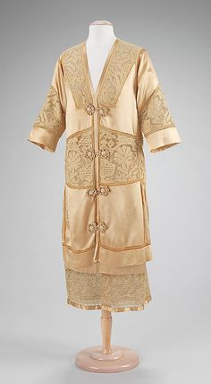 Evening suit  Attributed to Callot Soeurs (French, active 1895–1937)  Designer: Attributed to Madame Marie Gerber (French) Date: ca. 1920 Culture: French Medium: silk, linen