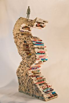 'Structure': Manipulated Book Sculpture by Jones Blachowicz