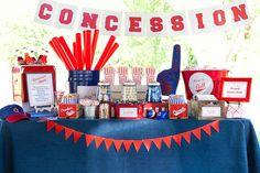 baseball theme The Homespun Hostess