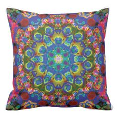 Doily Kaleidoscope Pillow - Dramatically accentuate your decor wherever you place this Kaleidoscope pillow with its riveting design. This Pillow serves as a mandala for meditation, a focal point for the imagination, and as a functional cushion. 40% OFF Outdoor Pillows USE CODE: RELAXOUTSIDE at checkout to get offer. Good 'til Midnite tonite 6/02/16 PT. Over 2600 products at my Zazzle online store. http://www.zazzle.com/greg_lloyd_arts* + See KC @  http://www.youtube.com/user/kineticcollage
