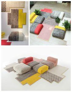 Le mythique fauteuil Mah Jong Roche Bobois revisité par la designer Patricia Urquiola.
