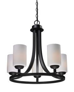 Z-Lite 2006-5 Chambley Collection Oil Rubbed Bronze Finish 5 Light Chandlier