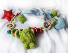 Kinderwagenketten - Kinderwagenkette Frosch 41022 - ein Designerstück von mamasliebchen-schnullerketten bei DaWanda