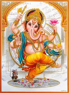 """""""Ganesha is one of the most well know Hindu deities who is tubby, and has a large elephant head. Shiva Art, Ganesha Art, Hindu Art, Shri Ganesh Images, Ganesha Pictures, Indian Gods, Indian Art, Ganesh Lord, Jai Ganesh"""