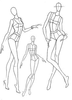 Project Draw The Line: 7 Minute Croquis Fashion Drawing Tutorial, Fashion Figure Drawing, Fashion Model Drawing, Fashion Illustration Poses, Fashion Illustration Template, Illustration Mode, Design Illustrations, Fashion Design Portfolio, Fashion Design Drawings