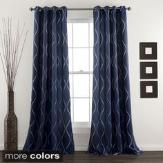 Lush Decor Swirl Blackout Curtain Panel Pair