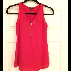 Express Red Top Like new condition. Express Tops