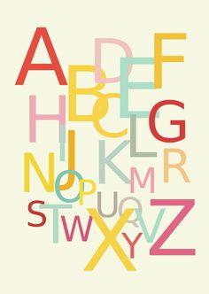 Free printable alphabet wall art - ausdruckbares Alphabetposter - freebie   MeinLilaPark – DIY printables and downloads