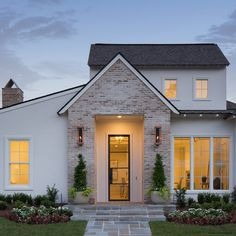 residential design and architecture in Lafayette Louisiana and all of Louisiana and the South Br House, Dream House Exterior, Simple House Exterior, Modern Farmhouse Exterior, House Goals, Home Fashion, House Painting, House Colors, My Dream Home