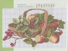 Cross Stitch Fruit, Cross Stitch Tree, Cross Stitch Patterns, Hama Beads, Crafts To Make, Applique, Map, Embroidery, Quilts