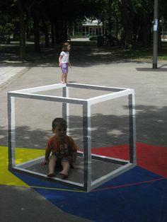 Illusion street art. Anamorphosis/ University of Novi Sad /Serbia ~ DesignDaily Network