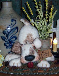Patti's Ratties Primitive Raggedy Puppy Farley Dog Doll Pattern 589 by pattisratties on Etsy https://www.etsy.com/listing/210232949/pattis-ratties-primitive-raggedy-puppy