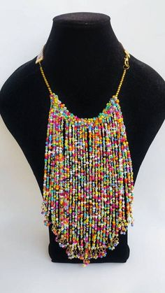 summer choker necklace Multicolored African Jewelry handmade Bead Jewellery, Jewelry Shop, Beaded Jewelry, Beaded Necklace, Jewelry Design, Africa Necklace, Tribal Necklace, Tribal Jewelry, Handmade Necklaces