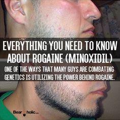 Everything You Need to Know About Rogaine (Minoxidil) on Beards. Beard Care From Beardoholic.com