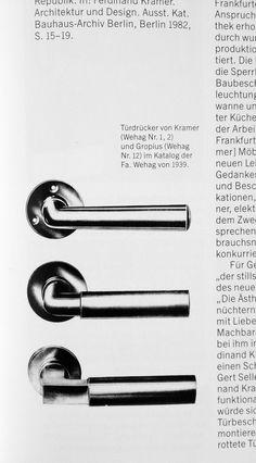 BAUHAUS Door handles Walter GROPIUS & Adolf MEYER 1922 Modernist | Pair #2 of 3 | eBay