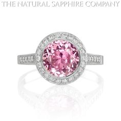 Pink sapphire ring -- Anna & BJ I need you to work on your Dad -- I want this for my 25th Anniversary in 3 years!!!!