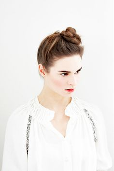 twisted braided topknot