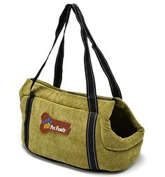 Pettom Pet Purse Carrier Dog Cat Travel Tote Shoulder Soft Bag Purse (Small, Green) *** Click image for more details.