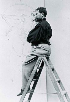 Alphonse Mucha at work