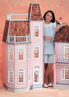 "This outstanding six room Victorian Town House boasts six spacious rooms with a floor to ceiling height of 14"" just right for any fashion doll including Barbie"