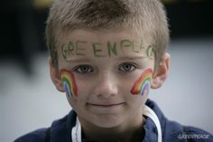 Greenpeace rainbow boy