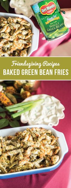 Gather your pals together for a Friendsgiving feast! Complete your menu with this recipe for Baked Green Bean Fries with Sour Cream and Scallion Dip to wow your guests with your entertaining skills. Little do they know, this side dish is quick and easy to put together thanks to Del Monte® Whole Green Beans. And pick up all the ingredients you need to tackle this occasion at Walmart.