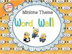 Word Wall and File-Copy-Grade desk  organizer Minions Theme