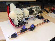 Jet Engine made on a 3D Printer #3dPrinteresting #3dPrinting