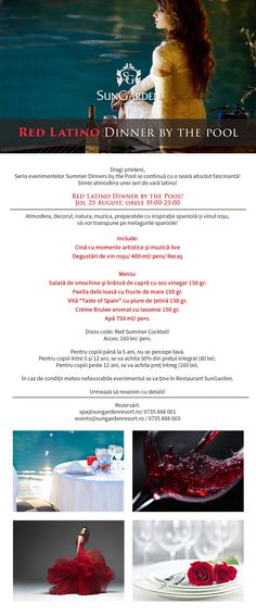 NEWSLETTER meniu red latino dinner by the pool ro