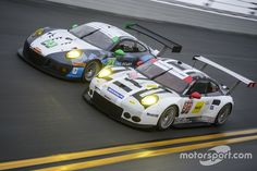 #23 Team Seattle/Alex Job Racing Porsche GT3 R: Ian James, Mario Farnbacher, Alex Riberas, Wolf Henzler, #911 Porsche Team North America Porsche 911 RSR: Nick Tandy, Patrick Pilet, Kevin Estre