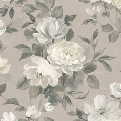 Papier peint Peony Bleu sarcelle- Collection In Bloom - Boråstapeter Plant Wallpaper, Watercolor Wallpaper, Watercolor Design, Wallpaper Roll, Watercolor Peony, Interior Wallpaper, Wallpaper Borders, Bathroom Wallpaper, Grey Floral Wallpaper