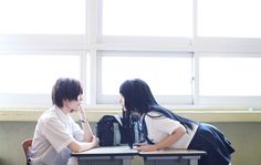 Cosplay Japanese School Girl Chitanda and Oreki - Hyouka - Human Poses Reference, Pose Reference Photo, Japanese School, Japanese Girl, Photographie Portrait Inspiration, Foto Real, Poses References, Hyouka, Ulzzang Couple