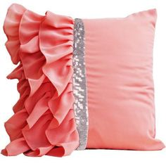 Exquisite Ruffle Sequins Cushion Cover