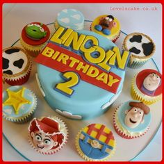 Toy Story Cake and Cupcakes - by LoveIsCakeUK @ CakesDecor.com - cake decorating website