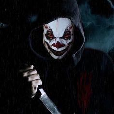 Joker by on DeviantArt Gruseliger Clown, Scary Clown Makeup, Clown Horror, Creepy Clown, Scary Wallpaper, Hacker Wallpaper, Gas Mask Art, Masks Art, Clown Tattoo