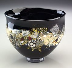 Sharon Fujimoto Hand Blown Art Glass - Bowls