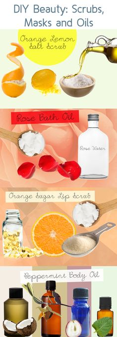 homemade.... i especially like the idea of rose bath oil