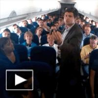 College Choir Sings 'Give Me Jesus' On a Plane